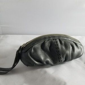 Cole Haan Grey Leather Pouch Wristlet